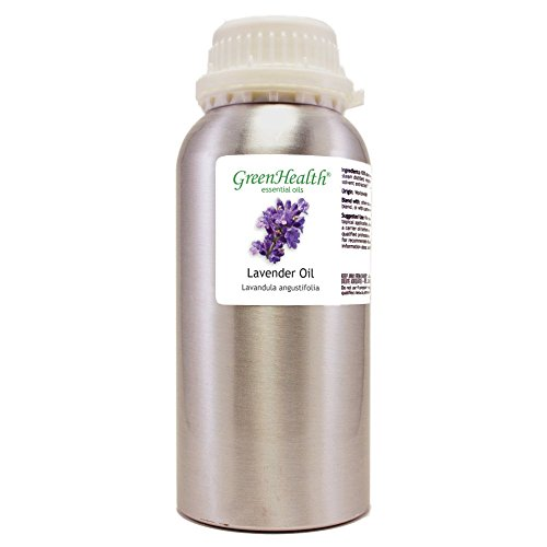 (GreenHealth Lavender - 32 fl oz (946 ml) Aluminum Bottle w/Plug Cap - 100% Pure Essential Oil)