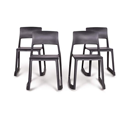 Vitra Set Chair - Vitra Tip Clay Designer Polypropylene Chair Set Gray by Edward Barber