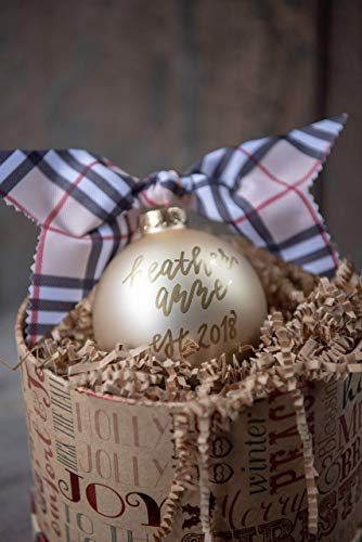 Personalized Ornament Name (Custom name ornaments Christmas | Personalized glass ball ornaments | 4 inch size | Ornaments come wrapped READY to GIVE!)