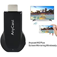 SmartSee Anycast M2 Plus Wireless Display Adapter 1080P HDMI Streaming Stick Support Miracast & Airplay & DLNA