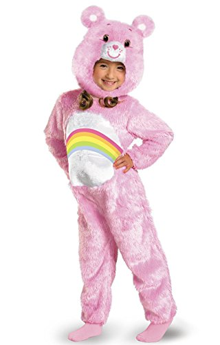 Care Bears Cheer Bear Deluxe Plush Costume, Pink/Rainbow, Toddler, Medium/3T-4T