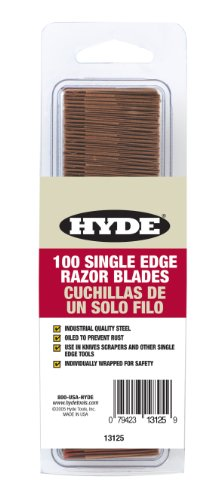 Contractor Single - Hyde Tools 13125 Single Edge Razor Blades, 100-Pack