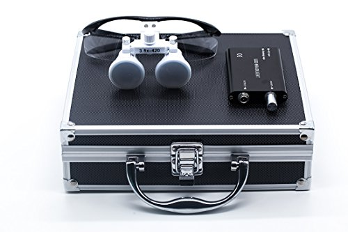 Dtuse Black Surgical Binocular Loupes 3.5x 420mm Glass Lo...