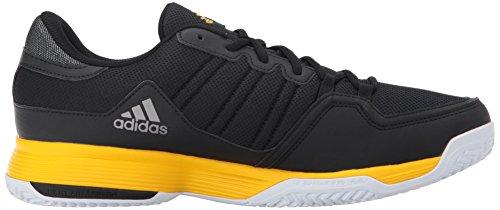 Adidas Performance Mens Barricade Court 2 Scarpa Da Tennis Nera / Attrezzatura Gialla / Notturna Metallizzata