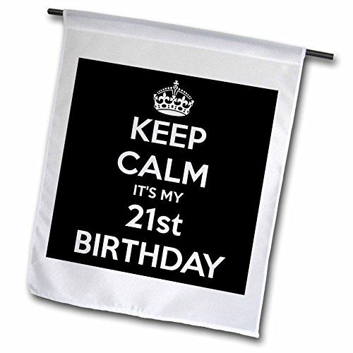 EvaDane – Funny Quotes – Keep calm its my 21st birthday, Black – 18 x 27 inch Garden Flag (fl_163842_2) Review