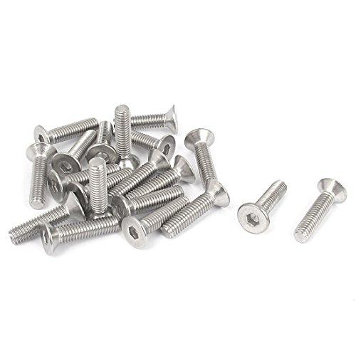 25mm Bolts (Uxcell a15101300ux0181 Countersunk Bolt M6 x 25Mm Metric Hex Socket Countersunk Flat head Screw Bolts 20Pcs)