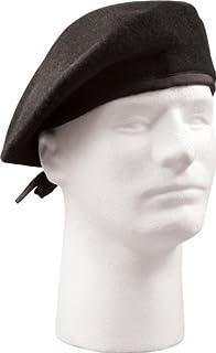 648e967f16514 Amazon.com  US Army Military Surplus Black Wool Beret (Size 8 ...
