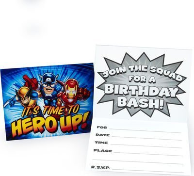 Marvel Super Hero Squad Invitations w/ Envelopes (8ct)