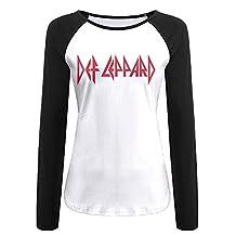 Women Def Leppard Rock Band Logo T-shirt Black