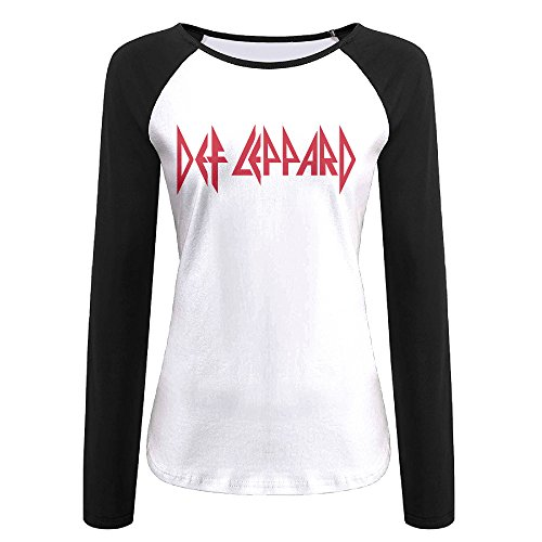 Used, Women Def Leppard Rock Band Logo T-shirt Black for sale  Delivered anywhere in Canada