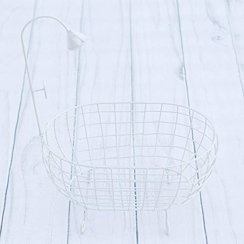 ZAMTAC Iron Studios Basket Shower Bathtub Prop Newborn Baby Photography Accessories Shooting Photo Posing Baby Photography Props - (Color: White) by ZAMTAC (Image #1)