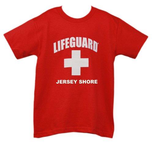 Lifeguard Kids Jersey Shore NJ T-shirt Official Junior Life Guard Tee Red - Jersey Shore Kids
