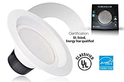 TORCHSTAR 17W 6inch LED Retrofit Recessed Lighting Fixture, ENERGY STAR Certified 17W (120W Equivalent) LED Ceiling Light, UL-classified Dimmable LED Retrofit Downlight kit - 2700K Warm White