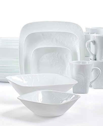 Chafing Dish China - Corelle Boutique Cherish 42 Piece Dinnerware Set