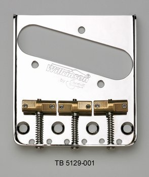 Wilkinson Vintage Bridge Tele Staggered Saddle Nickel Allparts TB-5129-001 by Allparts (Image #2)'
