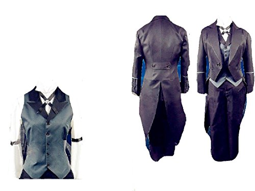Cosplay Claude Faustus Costume (Black Butler Claude Faustus cosplay costume + free)