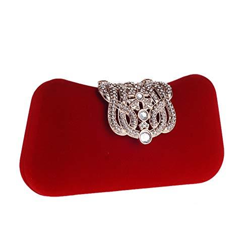 seoras mujeres partido de la Bag Style boda Bolso del del la las la de corona Envelope Clutch Monedero las Rhinestone tarde Bolsos embrague de de Rojo del l de negocio del Bolso graduacin de de fiesta de Ana4OOx5w