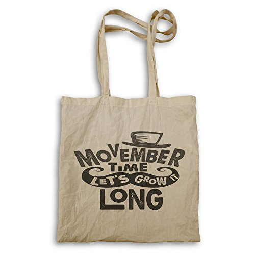 Movember Zeit lass es uns lange wachsen Tragetasche u268r