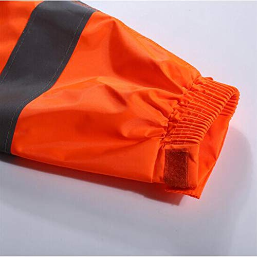 Altri Stradale Taffettà Set Kpkp Poliestere Allargante Strato Striscia Verde Lavoratori Impermeabile Riflettente E Uomo Amministrazione Igiene Ispirante Doppio Per In arancione ZUqErpfwq
