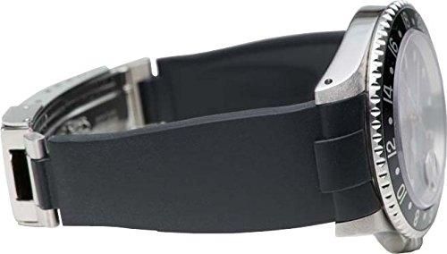 Black 2 De Rolex Eh Caoutchouc Everest Montres Bracelet En Noir dxroCBeW