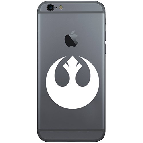 (Rebel Alliance Vinyl Cell Phone Decal for the iPhone or Android (WHITE 2