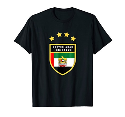 United Arab Emirates T-shirt Coat of arms Tee Flag Abu -