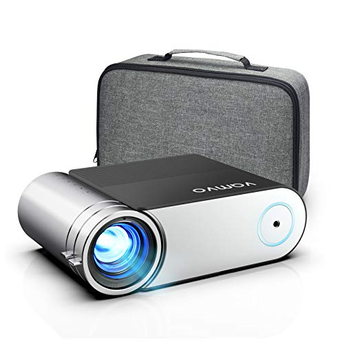 """Projector, Vamvo Mini Projector 1080p Full HD Support, Portable Video Projector 5500 Lux with Dolby, Home Cinema Projector 200"""" Display Supported, Compatible with HDMI/VGA/USB/Laptop/TV Stick/PS4 etc."""