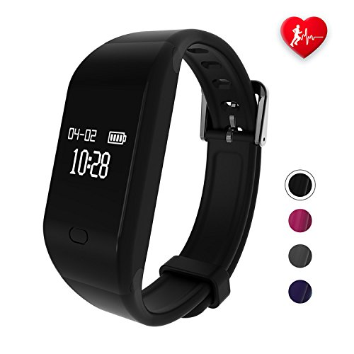 fitpolo Fitness Tracker HR,Activity Fit Tracker with Heart Rate&Sleep Monitor,Pedometer Step&Calorie Counter,IP67 Waterproof Smart Watch Wristband for Kids,Men,Women for iPhone Android