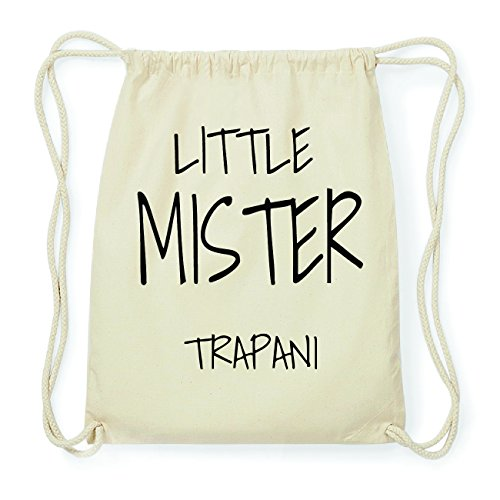 JOllify TRAPANI Hipster Turnbeutel Tasche Rucksack aus Baumwolle - Farbe: natur Design: Little Mister MGOcPID