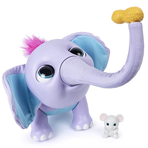 41skVhxFWEL - Wildluvs Juno My Baby Elephant with Interactive Moving Trunk & Over 150 Sounds & Movements