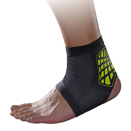 Panegy Compression Ankle Support Sleeve Reduce Muscle Fatigu Soft and Breathable Foot Brace for Running Badminton Green