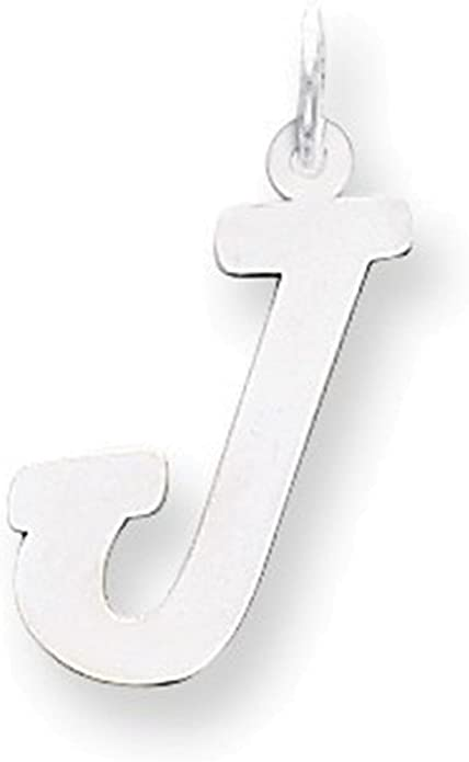 Jewelry Adviser Charms Sterling Silver Large Script Initial A Charm