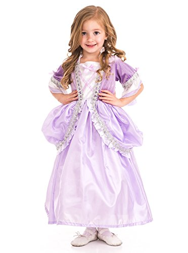 X-Large Age 7-9 Little Adventures Royal Pink Princess Dress Up Costume /& Matching Doll Dress