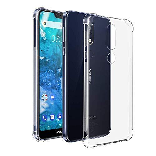 Sun Van - Carcasa de Silicona para Nokia 7.1 (Ultrafina, Ultrafina, TPU, antiarañazos, Transparente), Back Case, Airbag...