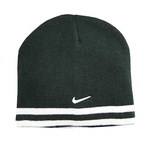 (Nike Boys Reversible Striped Beanie Hat (Black White))