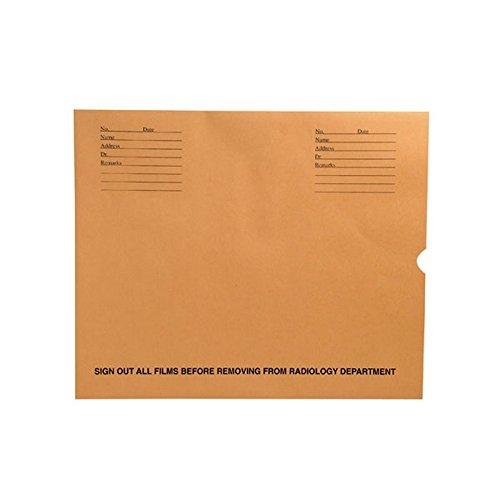 32lb Brown Kraft Negative Preserver, Open End, Standard Imprint, 14-1/2'' x 17-1/2'' (Carton of 500)
