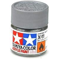 TAMIYA AMERICA 81511 X11 Mini Acrylic, Chrome Silver, 1/3 oz