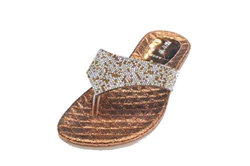 Wear & Walk UK - Sandalias de vestir de Material Sintético para mujer marrón