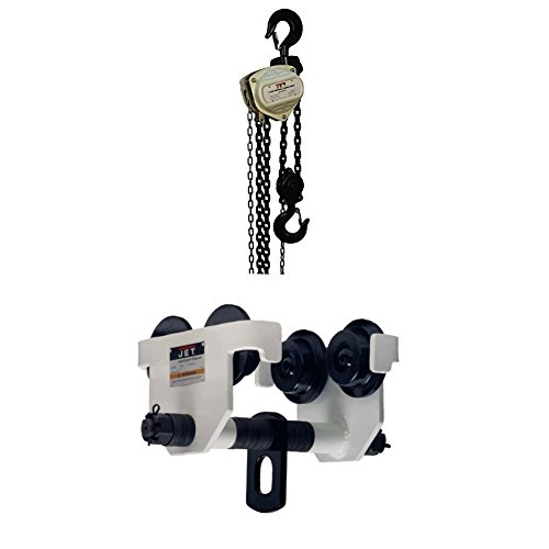 Jet S90-300-10 S90 Series Hand Chain Hoists with 5-HDT, 5-Ton Manual Trolley -
