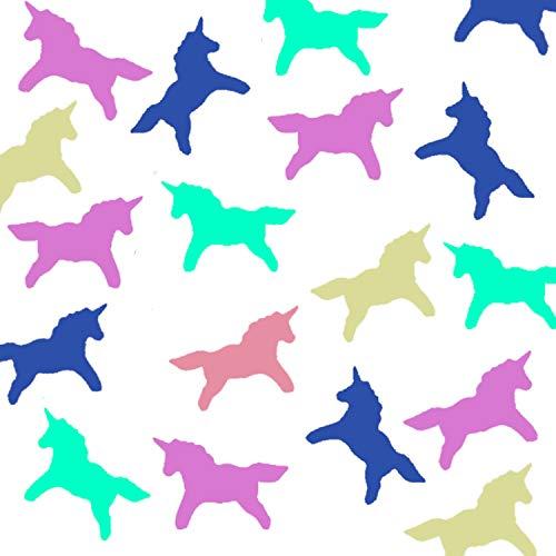 JPACO Rainbow Unicorn Confetti (50 grams, 1,500 PCS) - iridescent Sprinkles for Little Girls, Kids & Children