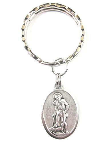 St Lazarus Medal Italy Key Ring Gift Box & Prayer Card ()