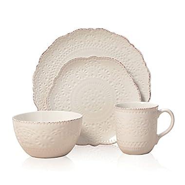 Pfaltzgraff Marseilles Stoneware Dinnerware 16-Piece Set - Cream