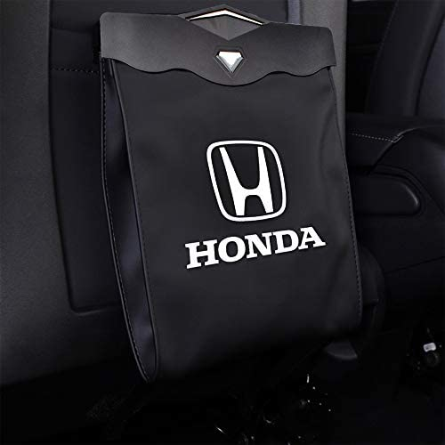 MASHA 1PCS Honda Car Garbage Bin Trash Cans Garbage Bags Wastebasket Vehicle Rubbish Container Back Seat Hanging Auto Organizer Fit for Honda All Model Car Interior Accessories
