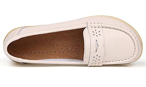 Sketo Damen echtes Leder Casual Penny Loafers Beleg (bis zu 55% Rabatt) Beige