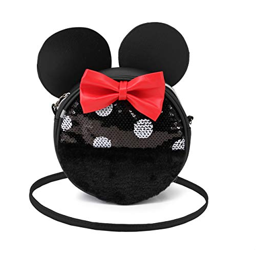 Karactermania Minnie Mouse Sequin - Bolso Redondo, Multicolor