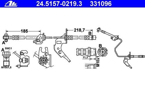 ATE 24.5157-0219.3 Bremsschlauch