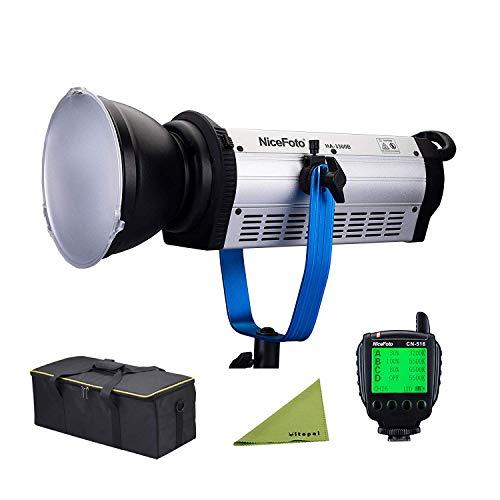 (VITOPAL NiceFoto HA-3300B 330W COB LED Light Daylight Balanced LED Continuous Video Light Bowens Mount with LED Transmitter CN-516 VS Aputure 300D)