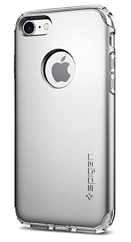 Spigen Hybrid Armor iPhone 7 Case/iPhone 8 Case with Air Cushion Technology and Hybrid Drop Protection for Apple iPhone 7 (2016) / iPhone 8 (2017) - Satin Silver