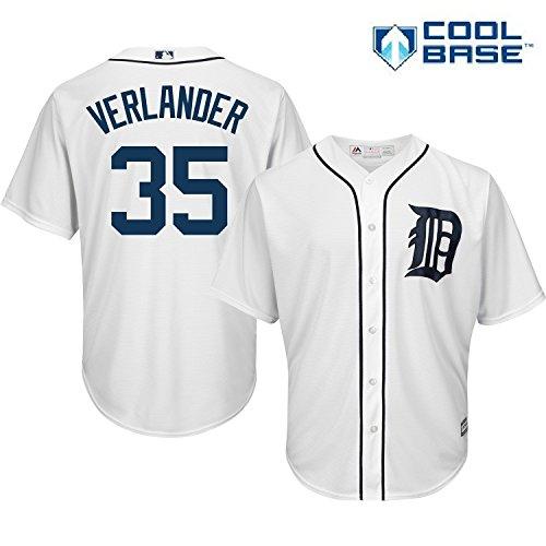 Justin Verlander Detroit Tigers #35 MLB Men's Cool Base Home Jersey - Glove Justin Mens