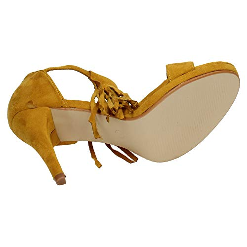 Shoes Sandalias Mujer H F Mostaza TAC 8397 Tacones 5xY8YRq